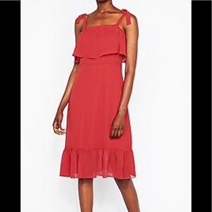 Express Tie Shoulder Midi Dress